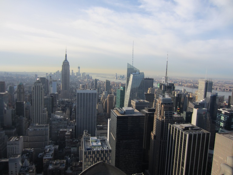 Taken by Genevieve Chalkley.  View from a NYC building December 2012